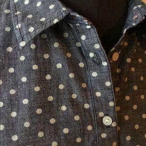 Talbots Polka Dot Button Down Shirt